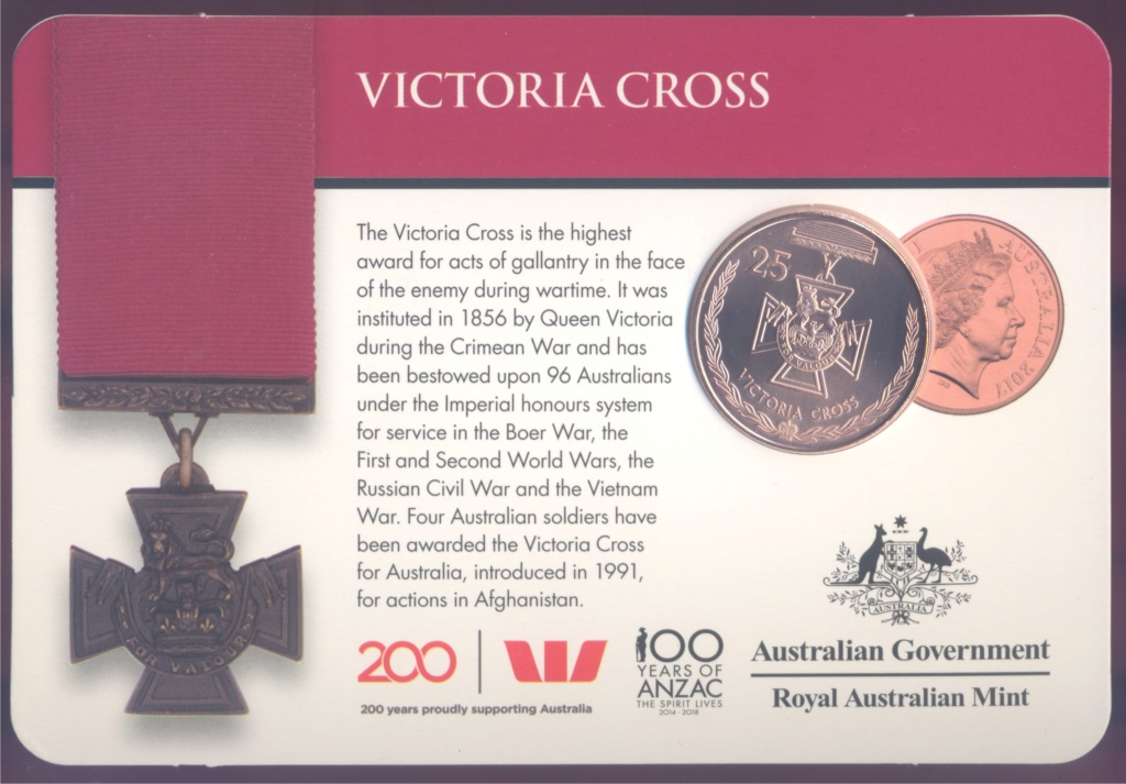 ANZAC - MEDALS OF HONOUR (AUSTRALIA 2017) Victor10