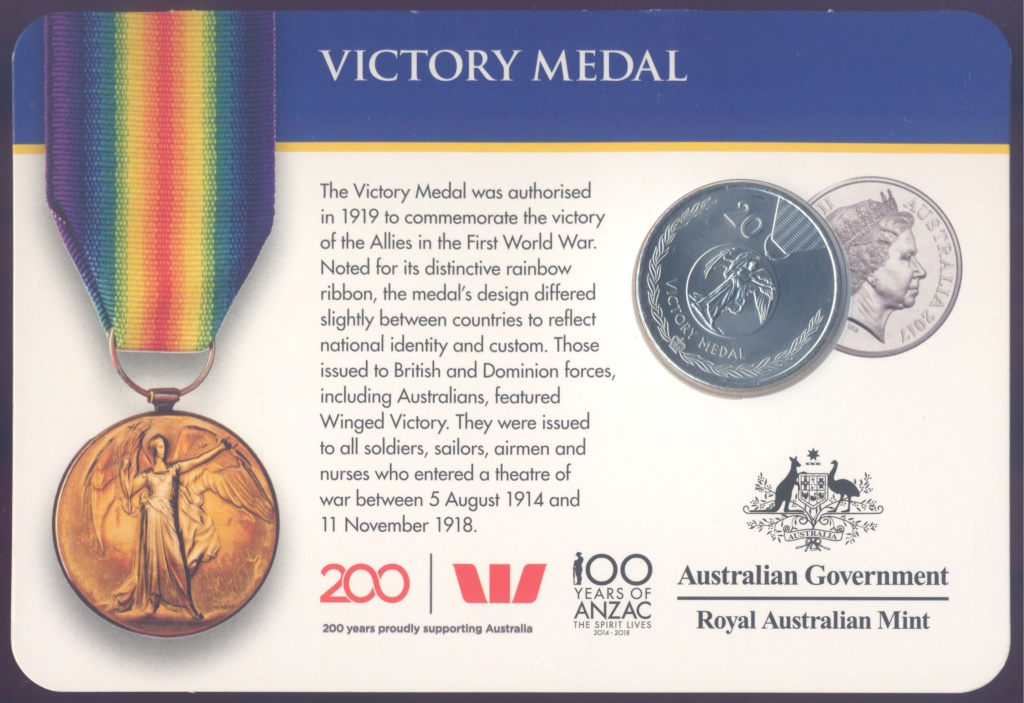 ANZAC - MEDALS OF HONOUR (AUSTRALIA 2017) Victor11