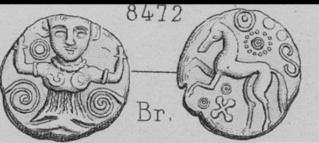 Bronze Ambiens au personnage de face et aux torques DT.404 Img-2711