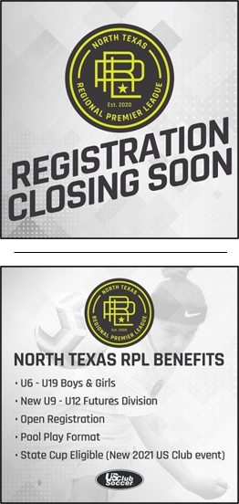 RPL FALL 2020 (REG. EXTENDED to AUG 12th) Closes12