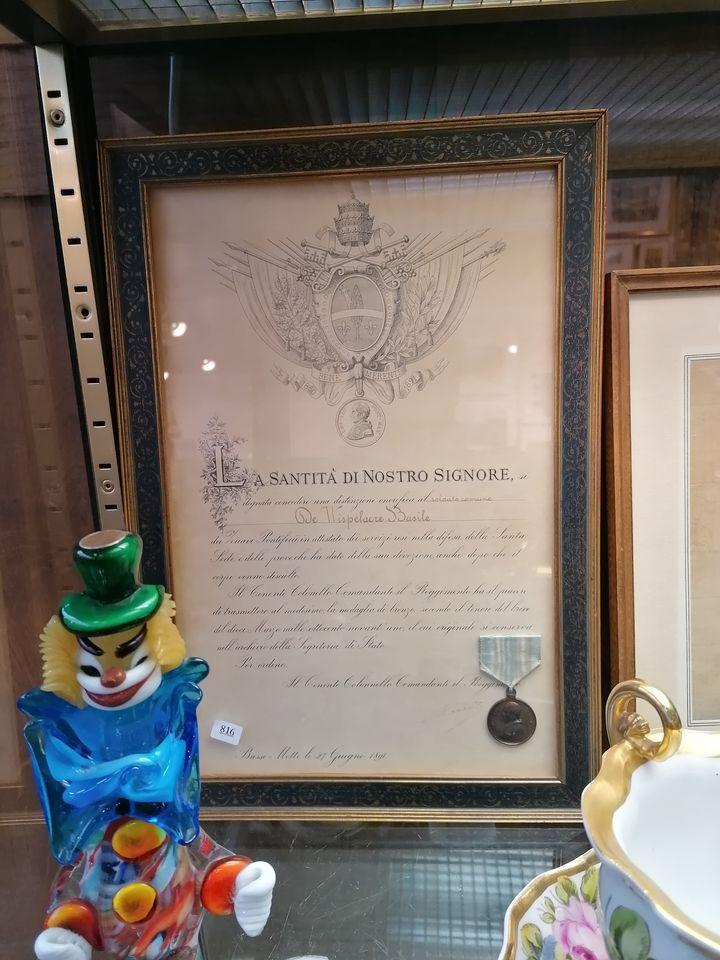 Médaille a un soldat Flamand; zouave pontifical. 12060310