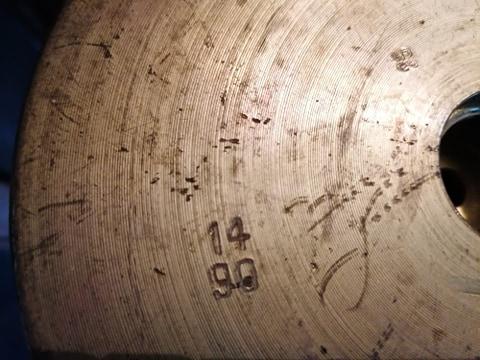 Une grande douille d'obus a identifier svp 12501510