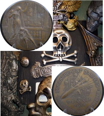 Médaille de table , bombardement d'Anvers. Captur20