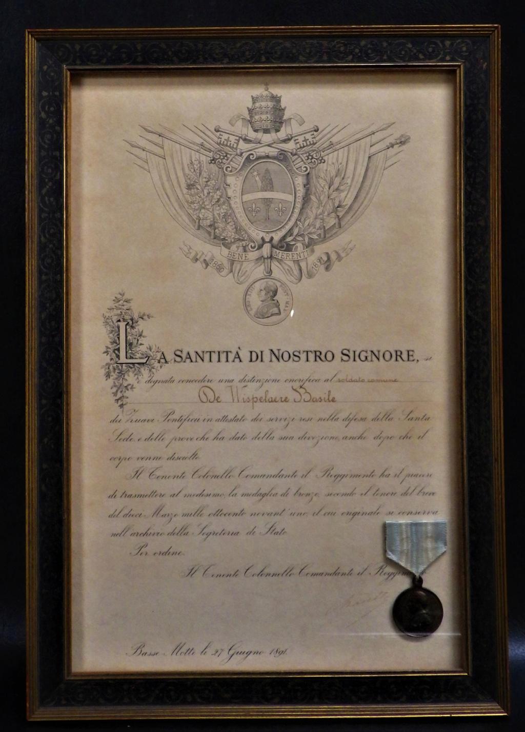 Médaille a un soldat Flamand; zouave pontifical. Rimg4537