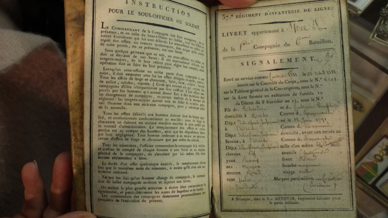 livret militaire d'un soldat de Napoléon Rimg5424