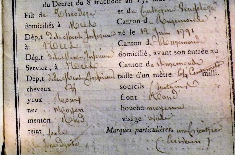 livret militaire d'un soldat de Napoléon Rimg5427