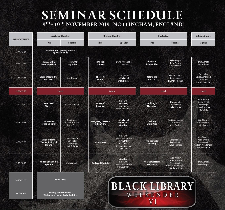 [The Black Library Weekender 2019] - Centralisation des news 11210