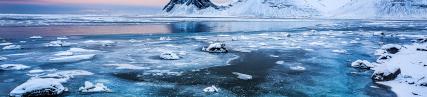 La plage glacée