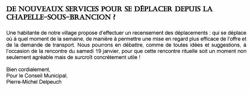Covoiturage à la Chapelle sous Brancion Servic10