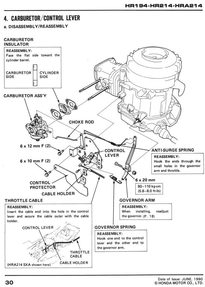 moteur - Démontage moteur honda pour changement de coque tondeuse  61va3010