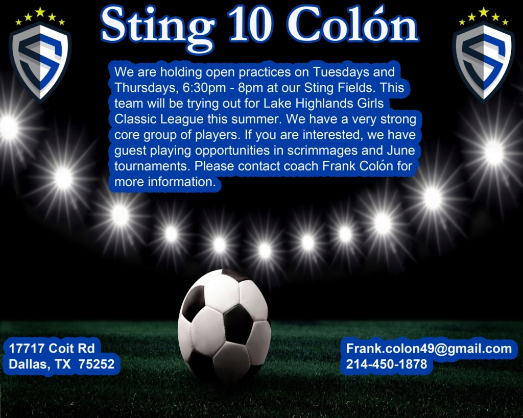 Sting Colón 2010s looking for a couple of player.  Resize11