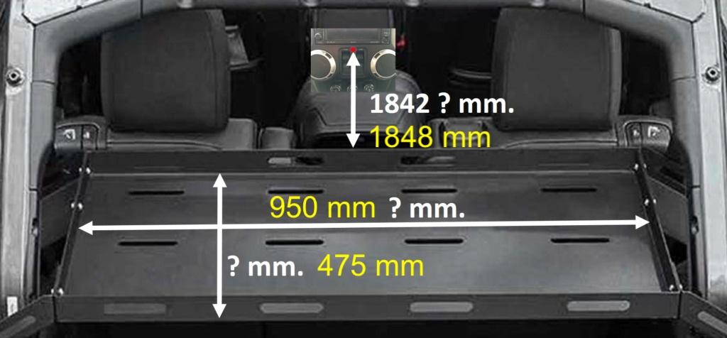 Jeep Wrangler JKU rear cargo rack Misura10