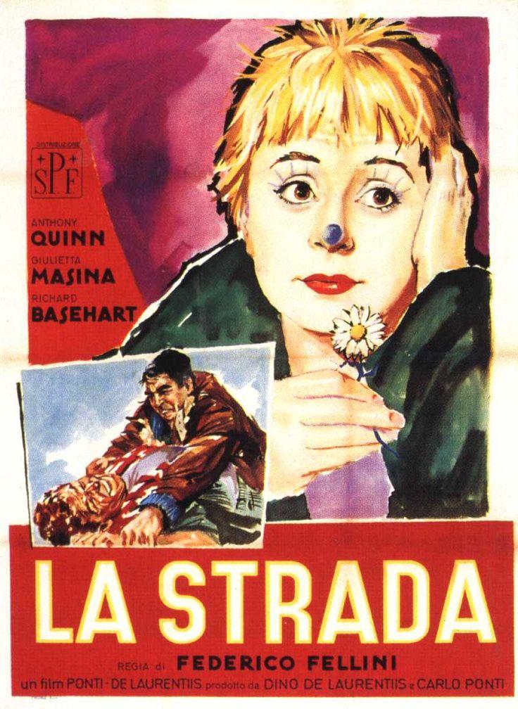 """Un des films préférés du Pape François : """"La Strada"""" de Fellini Affich10"""