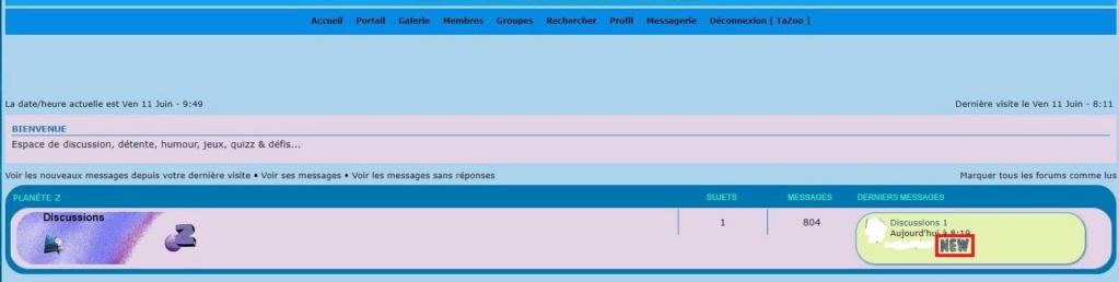 """Être prévenu de l'arrivée de nouveaux messages dans un Forum/Sujet par l'ajout d'un Gif animé nommé """"NEW"""" sur la page d'accueil, sur le titre du forum et sur celui du sujet concerné Page_d12"""