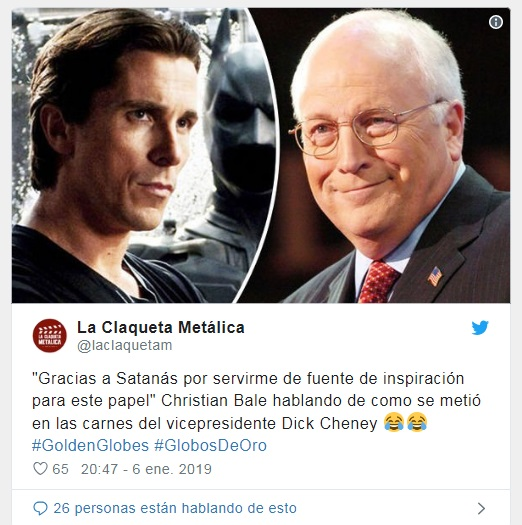 """GRACIAS A SATANÁS POR MI PREMIO"" (Christian Bale) Salix-11"