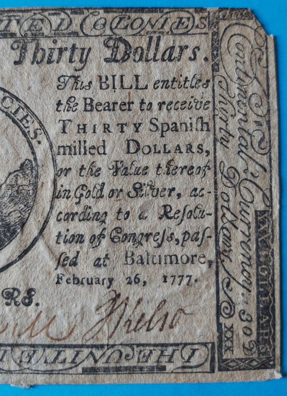 Dudas... 30 dólares pagaderos en moneda española - Baltimore, 1777 Billet18