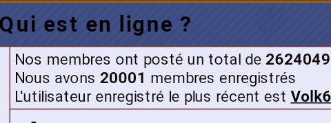Nous avons dépassé les 20.000 membres enregistrés sur le forum !! Screen12