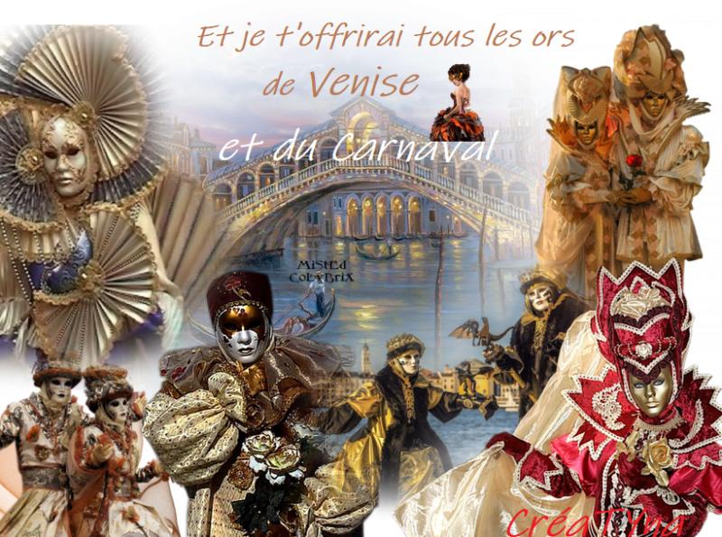 """Défi du mois de février sur le thème du """"Carnaval""""  Venise10"""