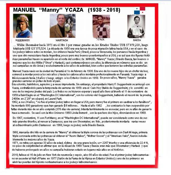 """MANUEL """"MANNY""""  YCAZA. SE FUE UN GIGANTE DE LA FUSTA 1938_m11"""