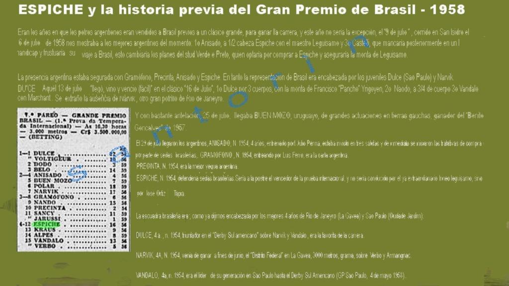 Hace 50 años - GRANDE PREMIO BRASIL - ESPICHE (Arg.) 1958-e11