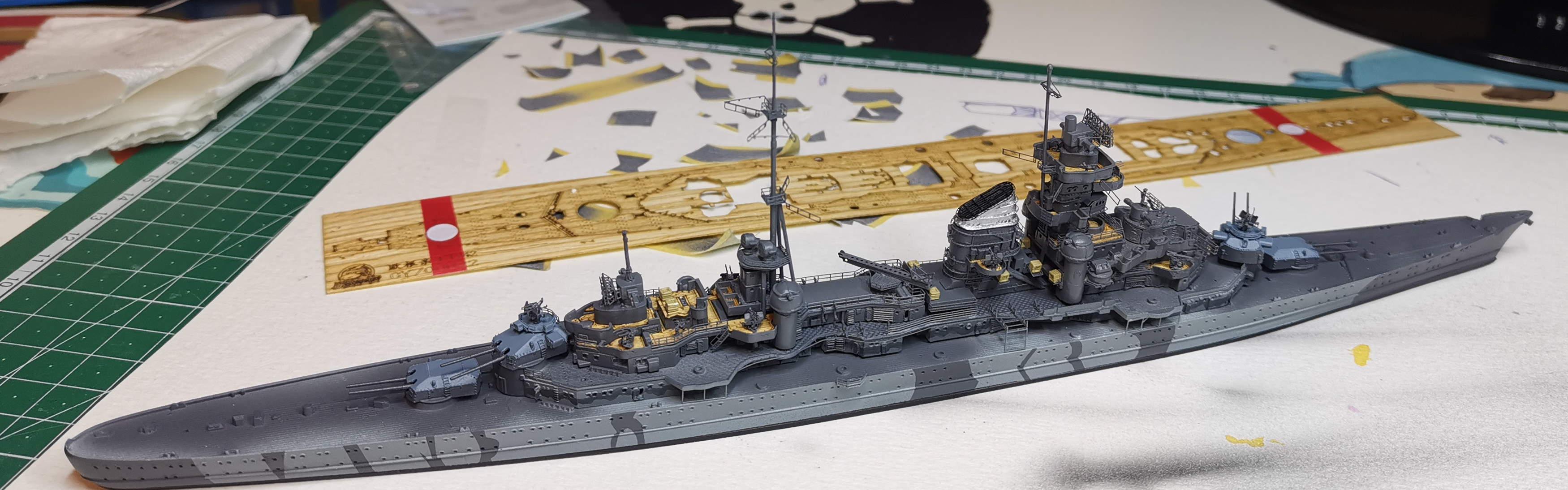 [TERMINE] Croiseur Prinz Eugen Trumpeter 1/700e, PE Flyhawk, pont en bois - Page 6 20200614