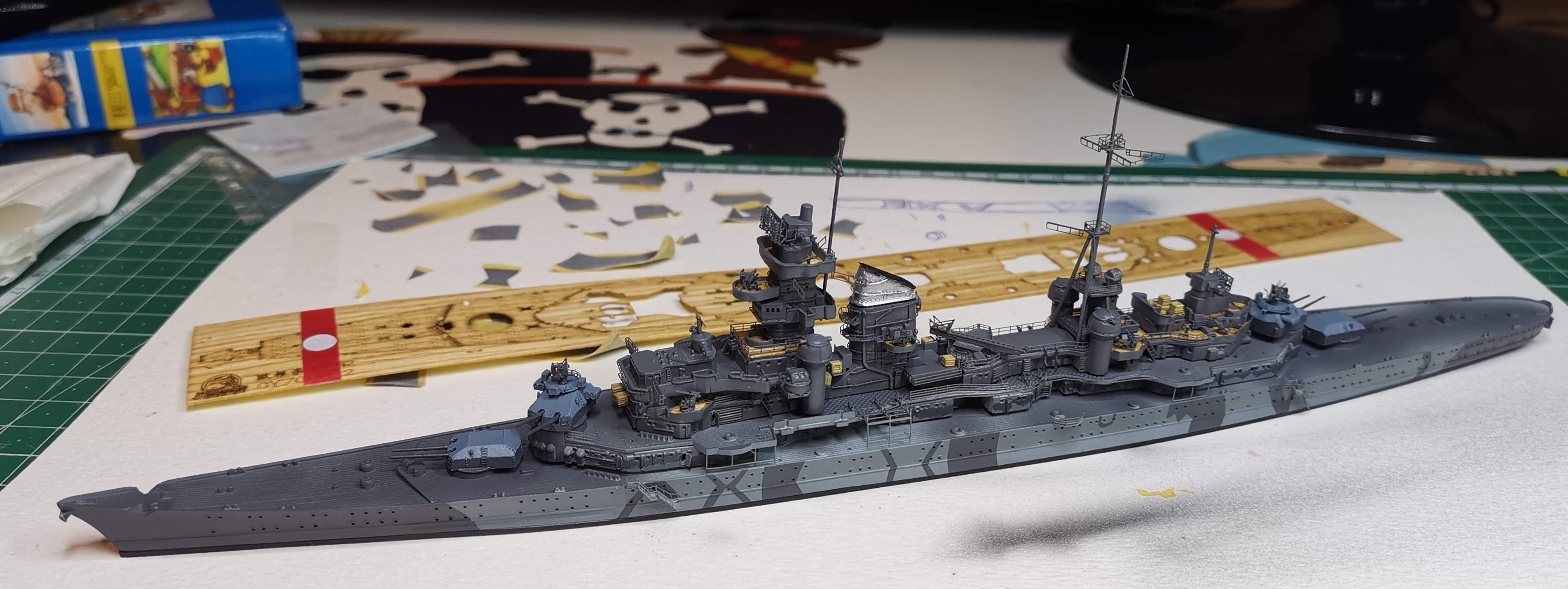 [TERMINE] Croiseur Prinz Eugen Trumpeter 1/700e, PE Flyhawk, pont en bois - Page 6 20200615