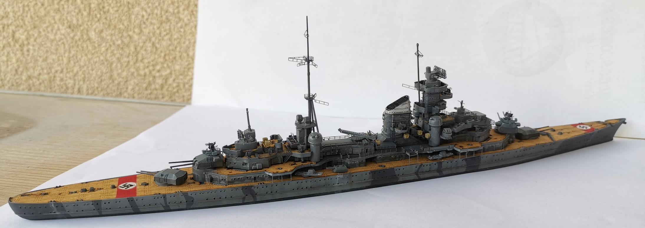 [TERMINE] Croiseur Prinz Eugen Trumpeter 1/700e, PE Flyhawk, pont en bois - Page 6 20200617