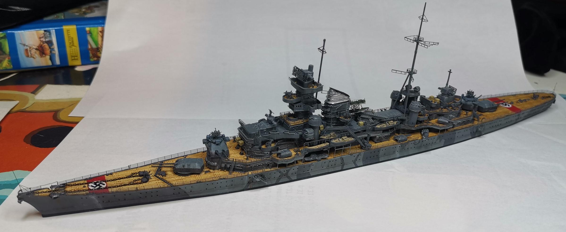 [TERMINE] Croiseur Prinz Eugen Trumpeter 1/700e, PE Flyhawk, pont en bois - Page 7 20200618