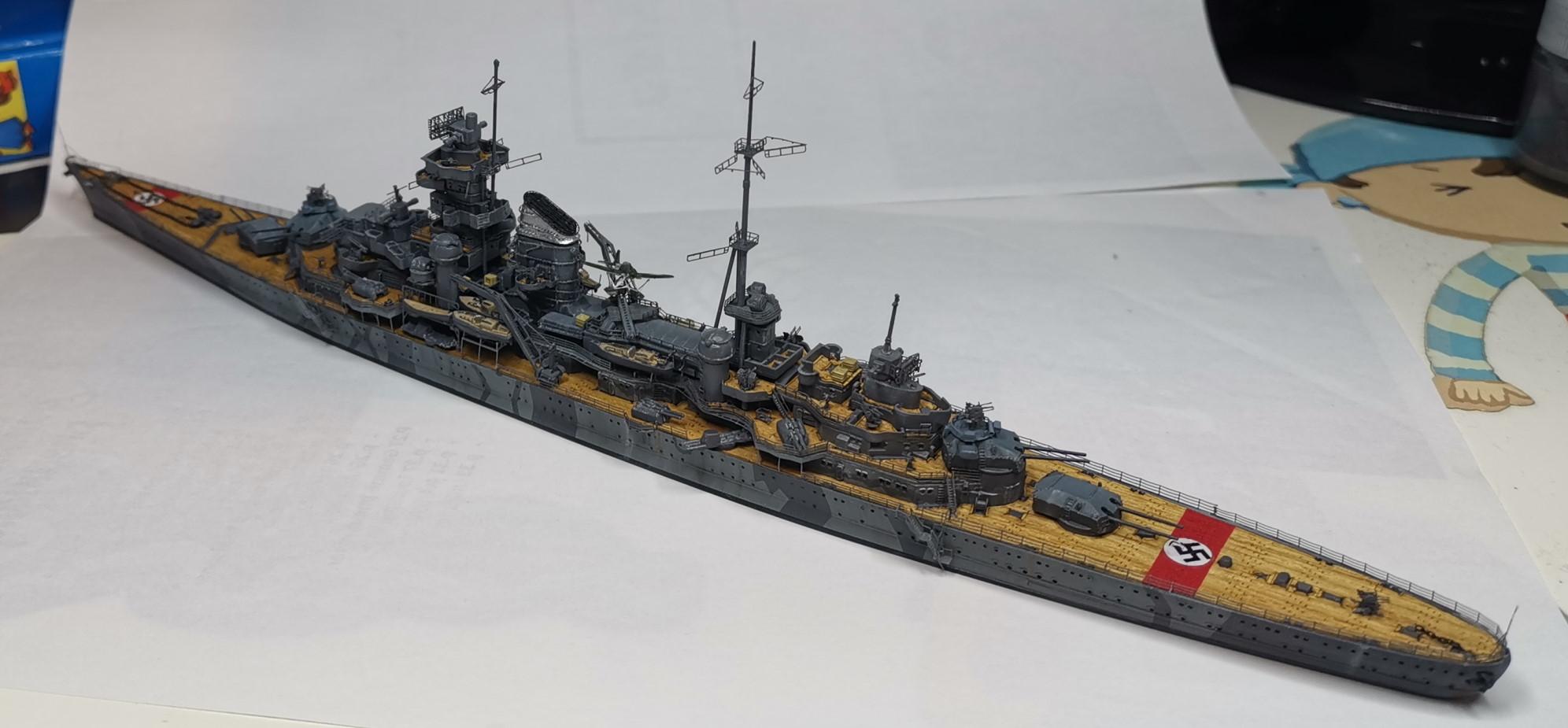 [TERMINE] Croiseur Prinz Eugen Trumpeter 1/700e, PE Flyhawk, pont en bois - Page 7 20200619