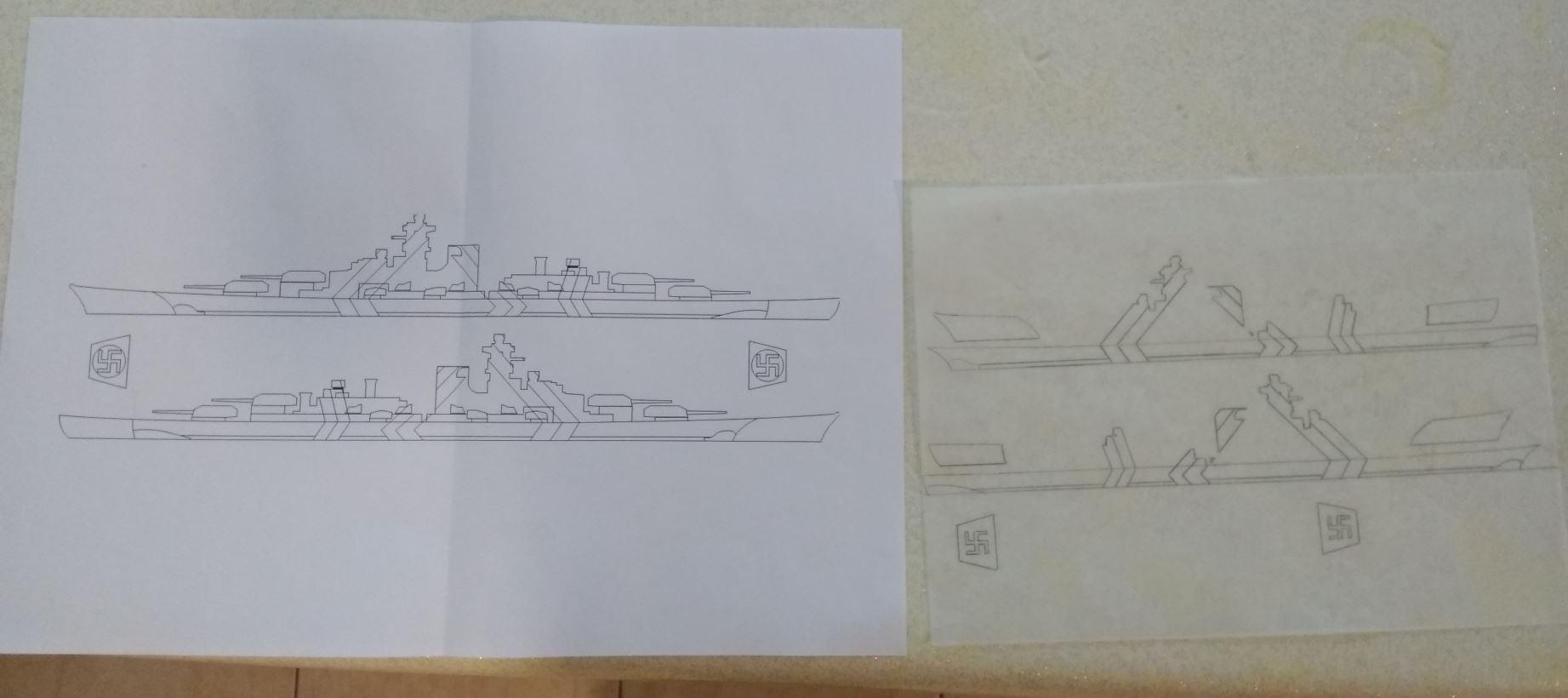 Bismarck MENG au 1/700e kit de PE Eduard Bismar13
