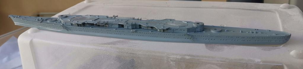 [TERMINE] Croiseur Prinz Eugen Trumpeter 1/700e, PE Flyhawk, pont en bois - Page 6 Coque10