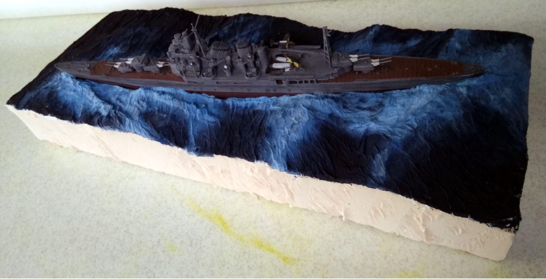 Débutant en diorama maritime, désormais terminé! Mer12