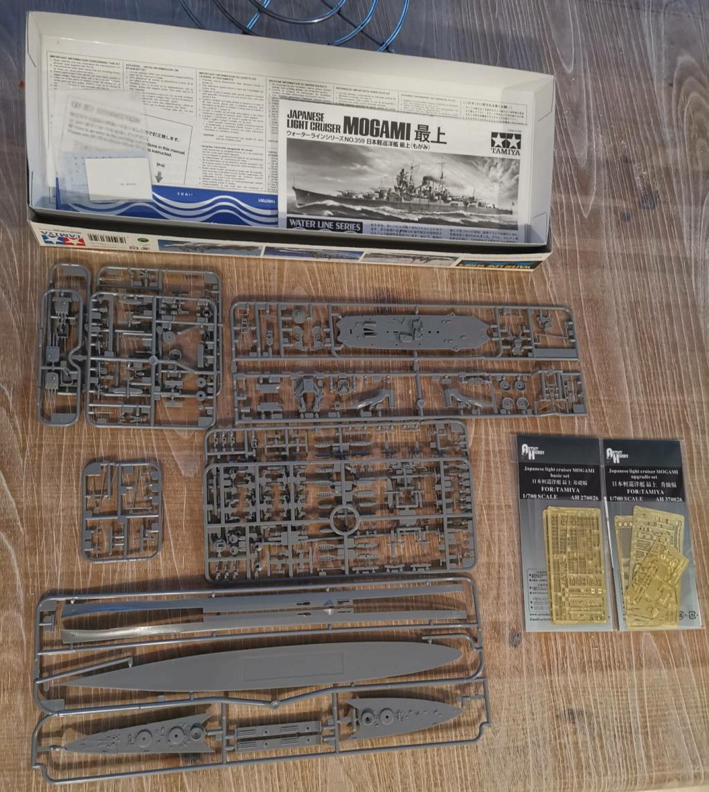 Croiseur léger Mogami Tamiya 1/700e + PE Artist Hobby Mogami10