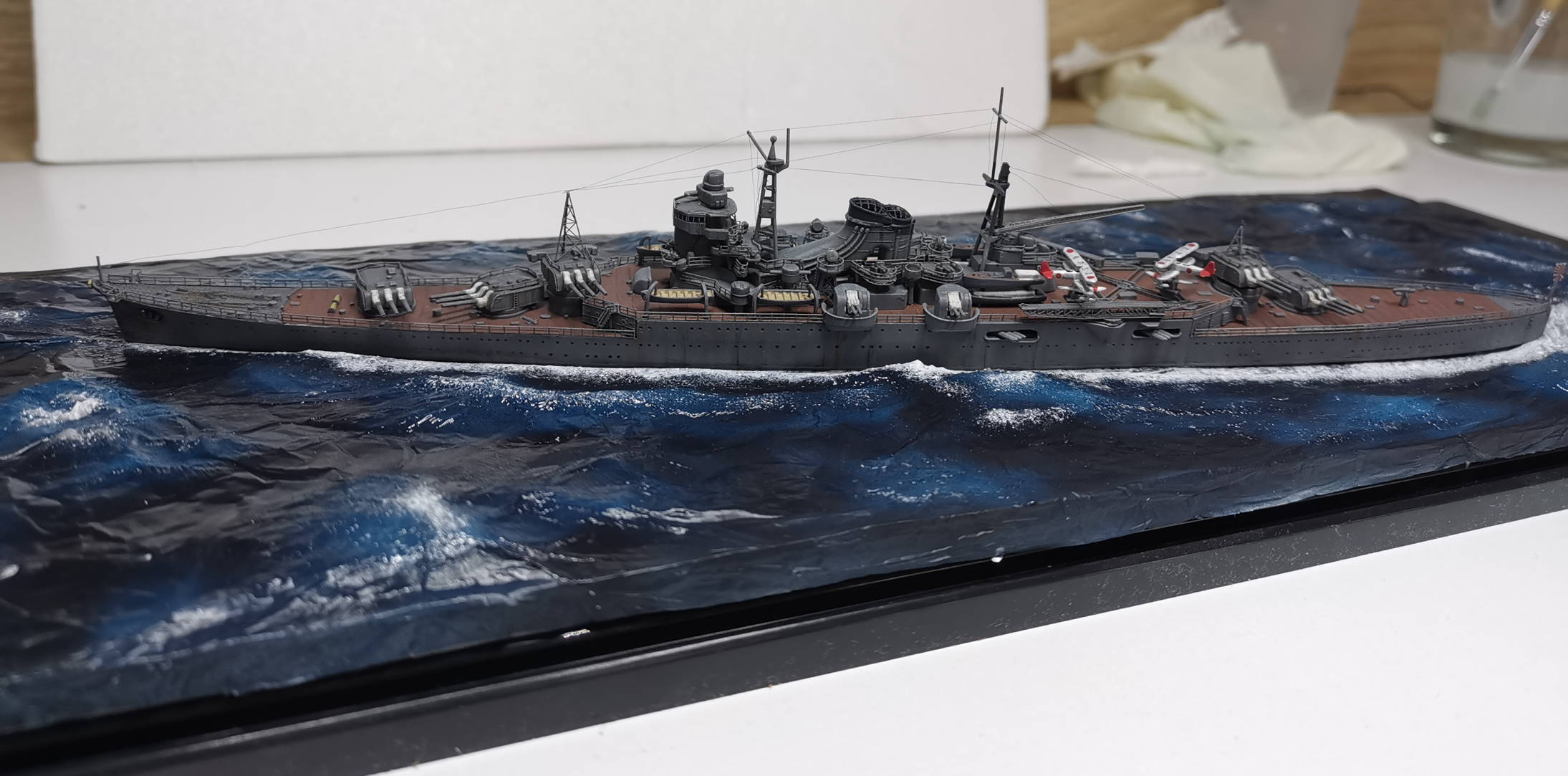 Croiseur léger Mogami Tamiya 1/700e + PE Artist Hobby - Page 3 Mogami16