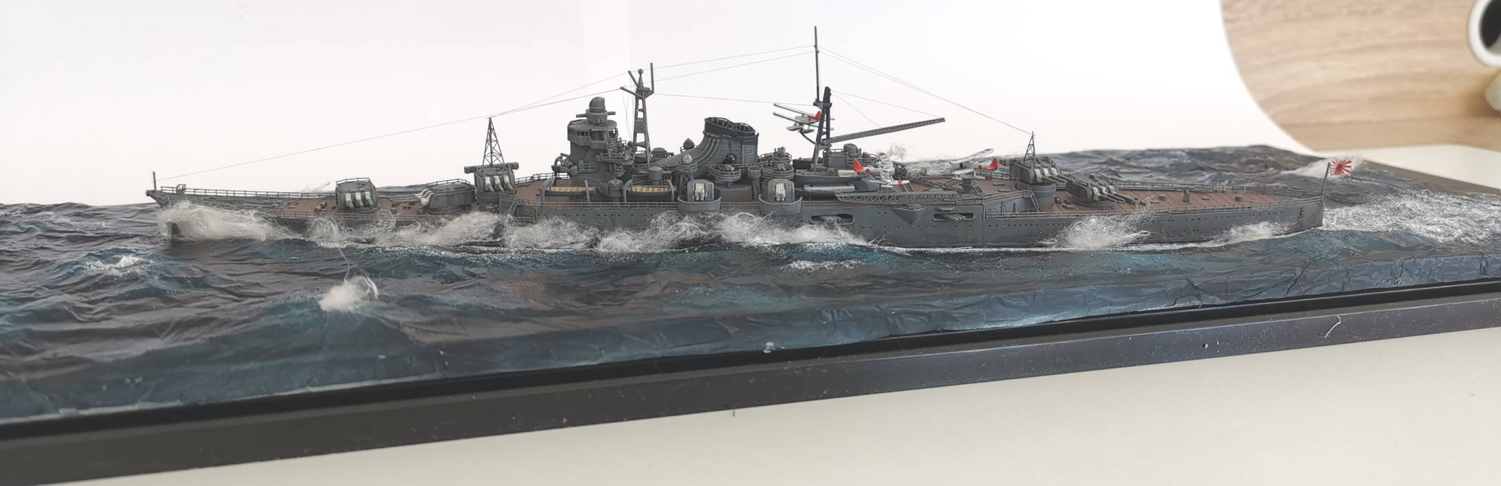 Croiseur léger Mogami Tamiya 1/700e, avec photodec Artist Hobby  Mogami24