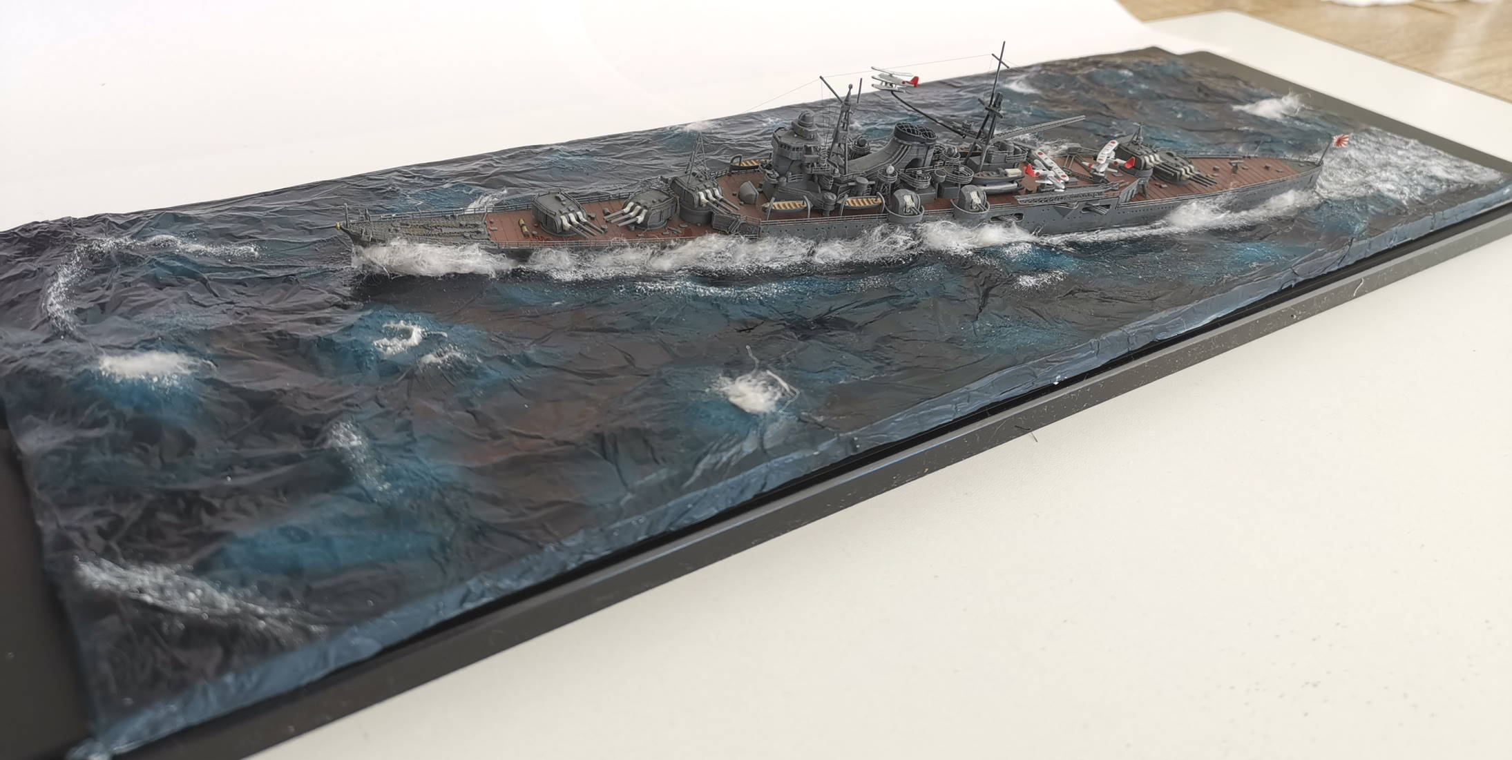 Croiseur léger Mogami Tamiya 1/700e, avec photodec Artist Hobby  Mogami28