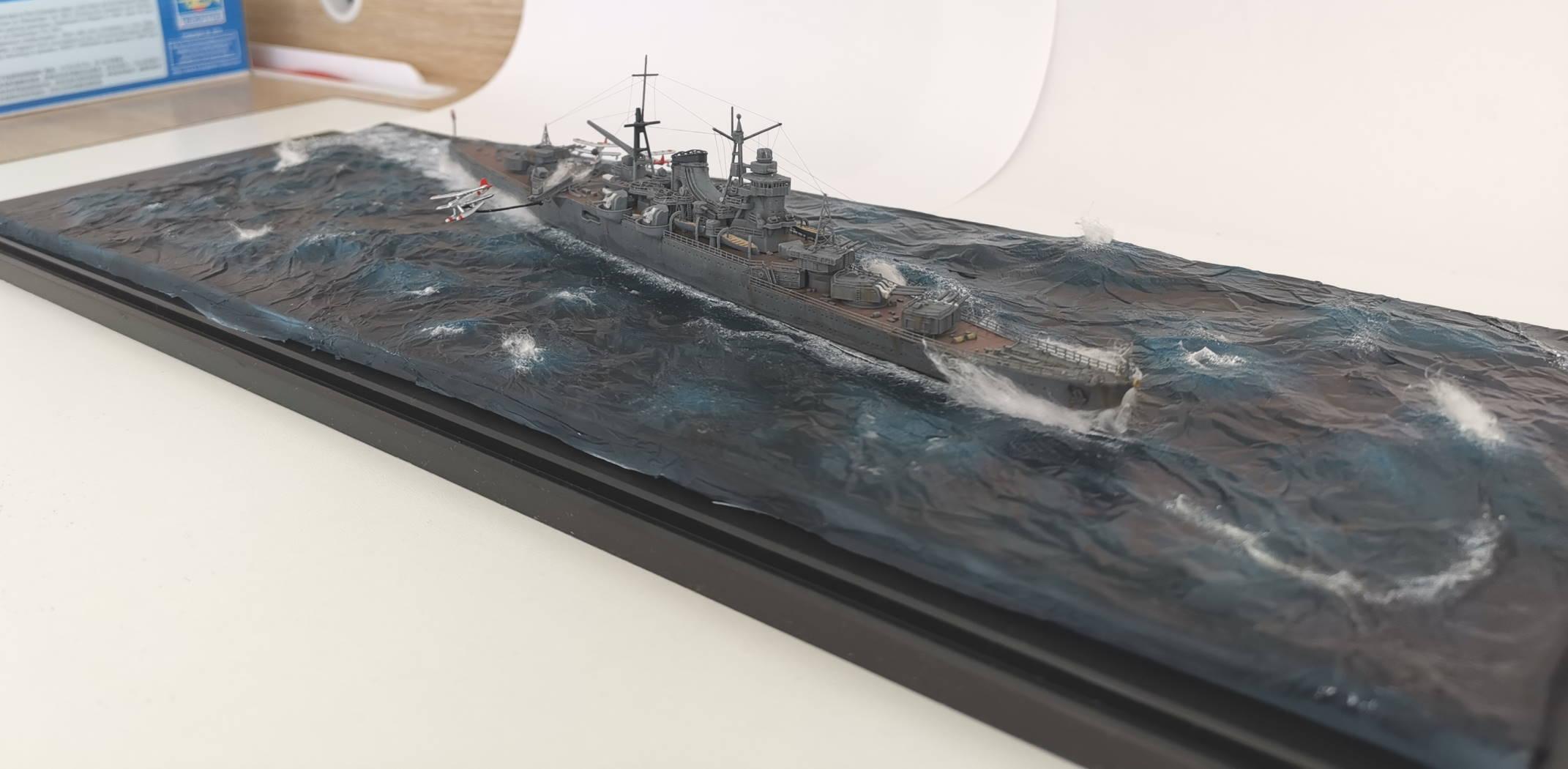 Croiseur léger Mogami Tamiya 1/700e, avec photodec Artist Hobby  Mogami29