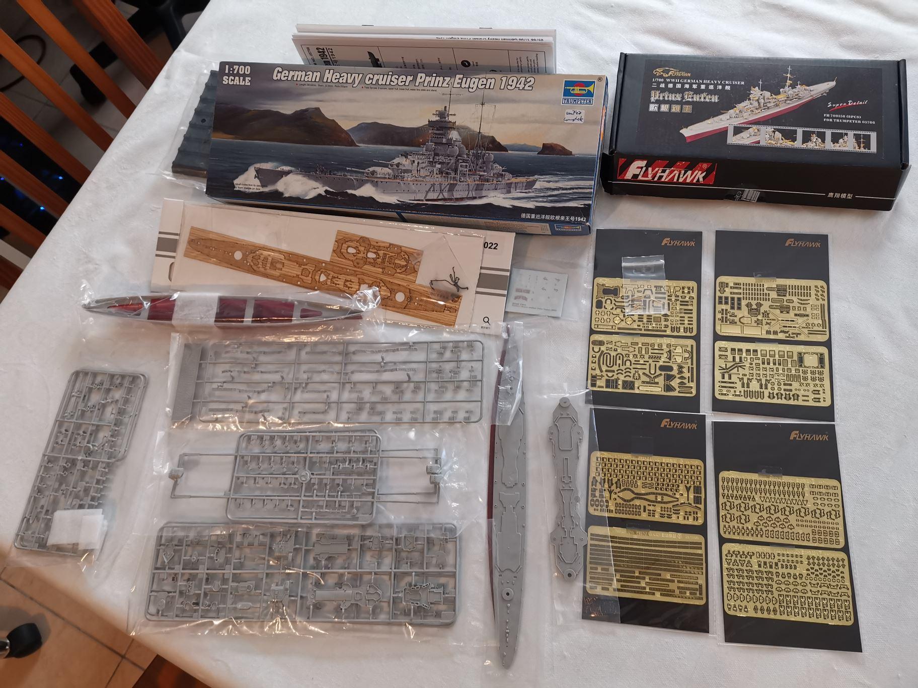 [TERMINE] Croiseur Prinz Eugen Trumpeter 1/700e, PE Flyhawk, pont en bois Prinz10