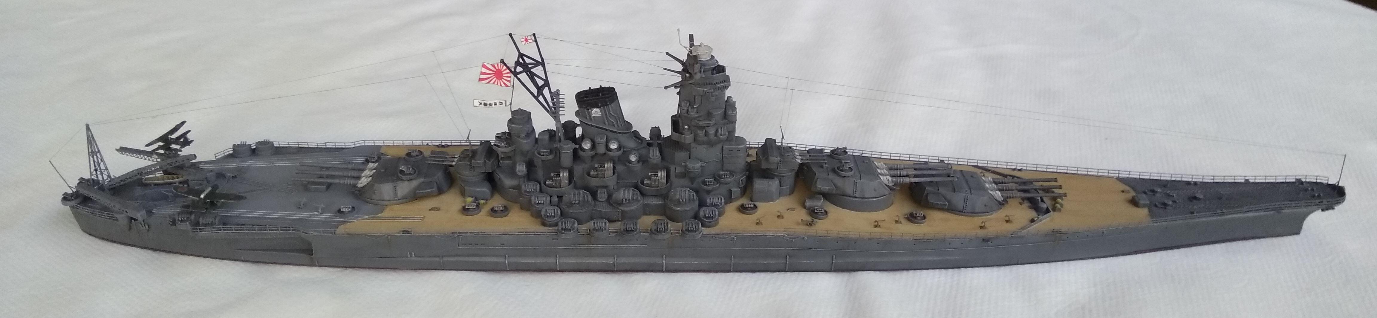 Yamato 1/700e Tamiya Yamato21