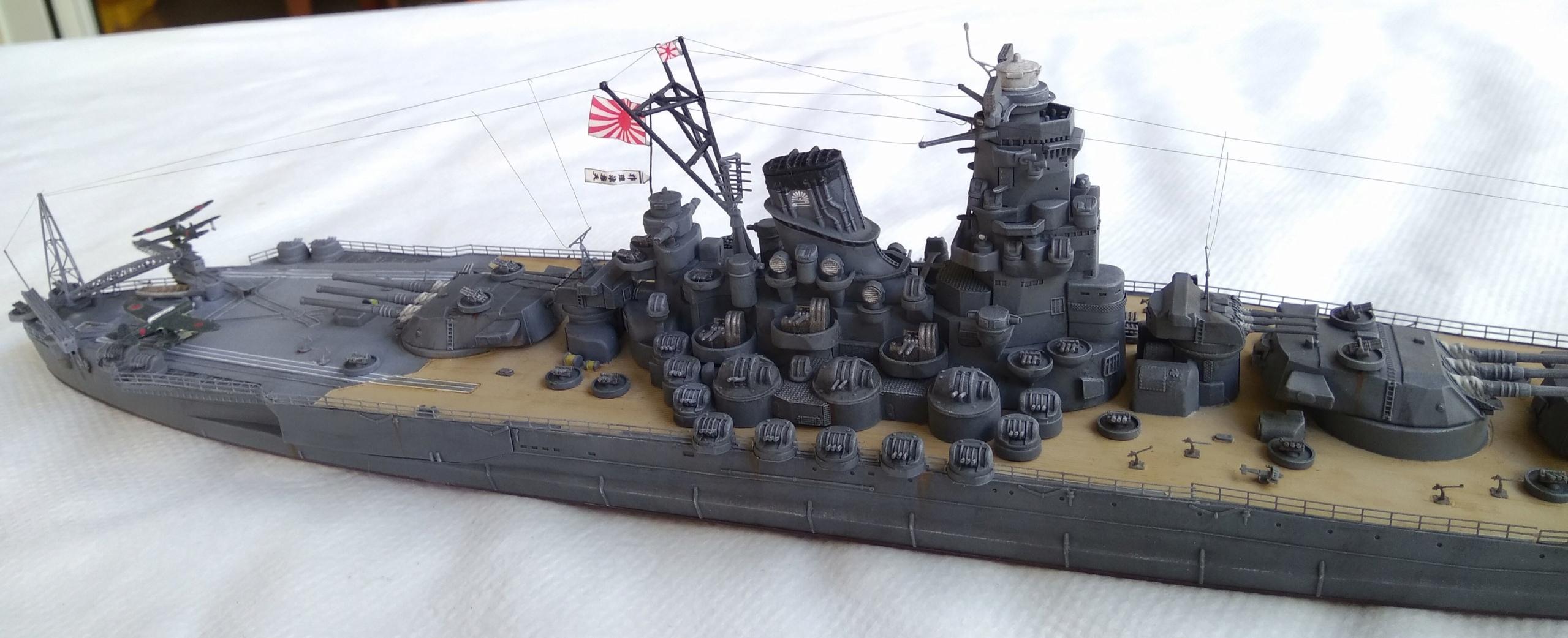 Yamato 1/700e Tamiya Yamato23