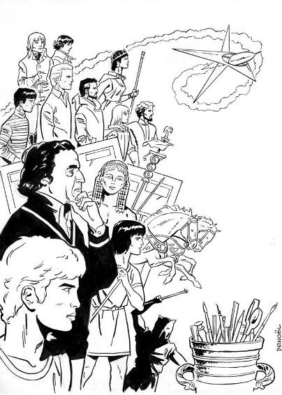 Caricatures et portraits de Jacques Martin Denoel10