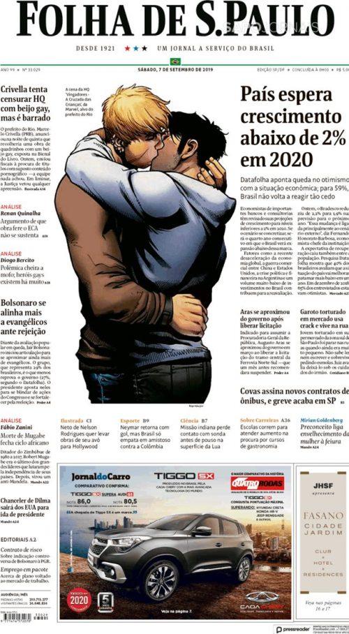 Brésil : BD et Censure  Folha_10