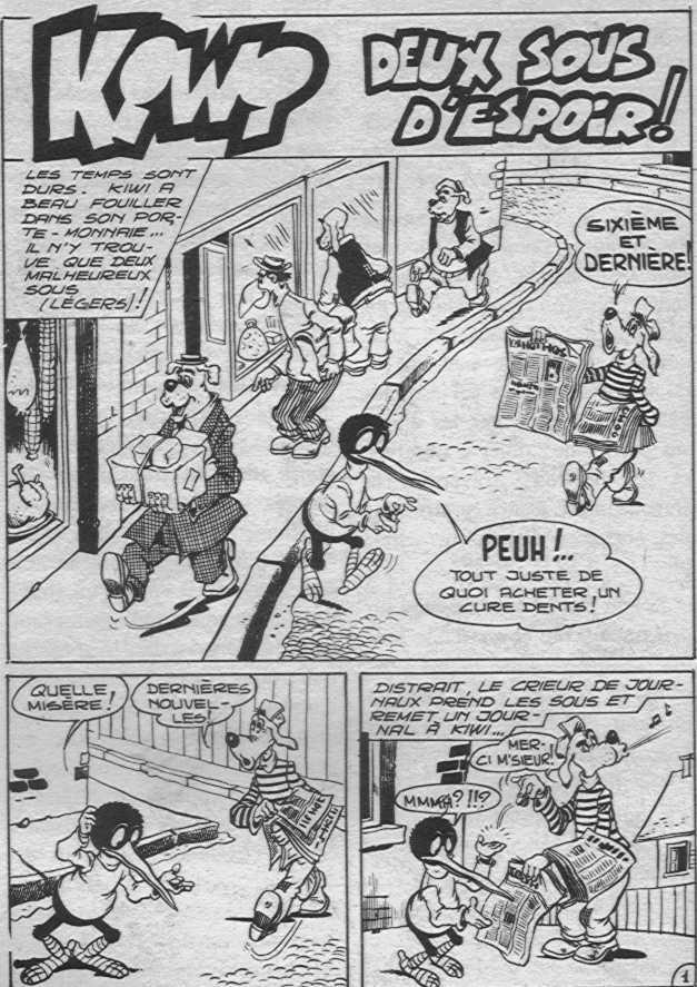 Jean Cézard : M. TOUDOU (et son singe Toulour ) et bien d'autres personnages Kiwi10