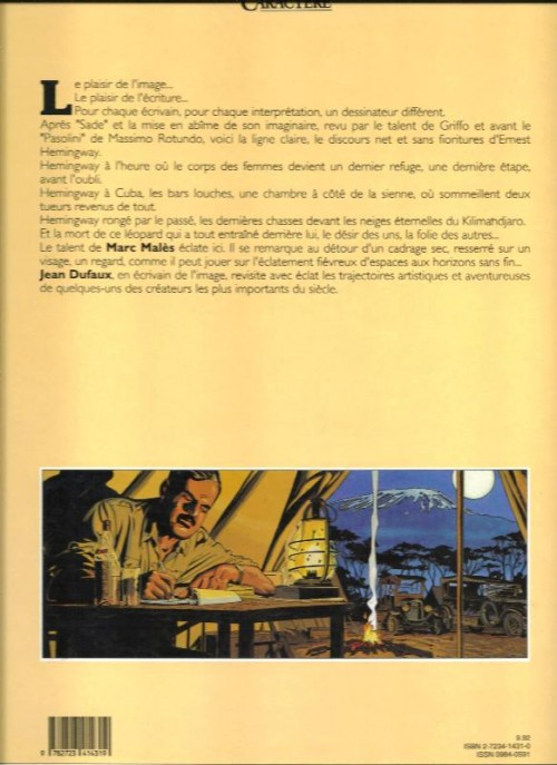 E. HEMINGWAY en BD Verso337