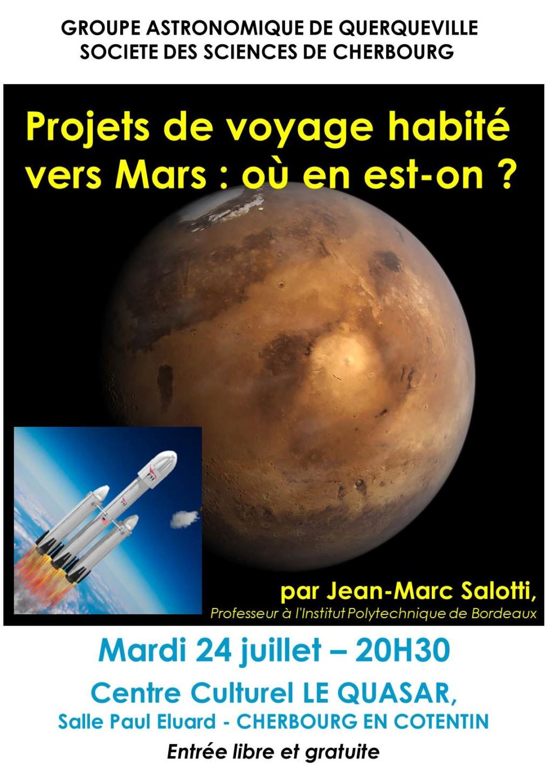 """Conférence : """"Les voyages vers Mars, où en-est-on ?"""" Affich10"""