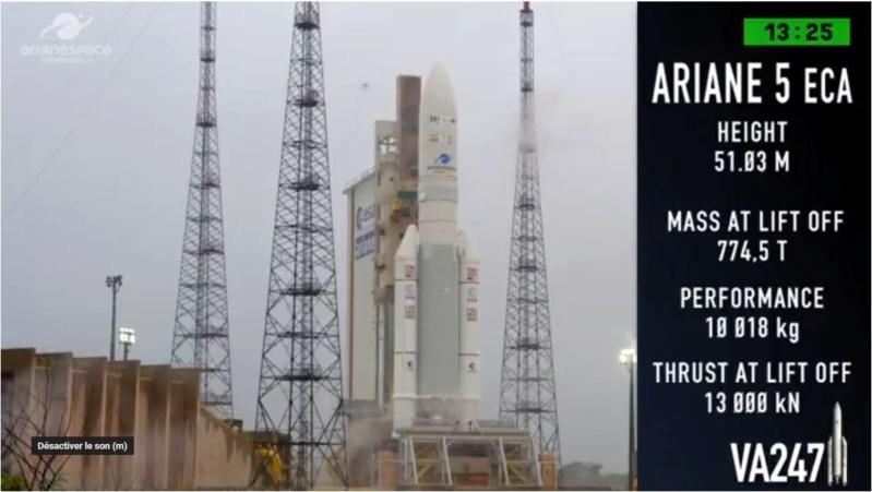 Ariane 5 VA247 (HS-4/SGS-1 + GSAT-31) - 5.2.2019 Ar210