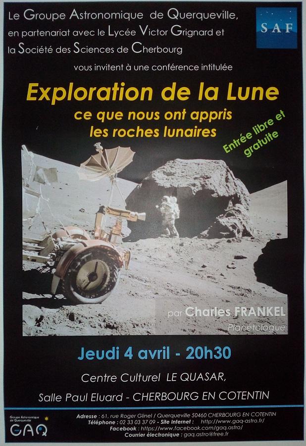 """Conférence : """"ce que nous ont appris les roches lunaires"""" Conf2b10"""