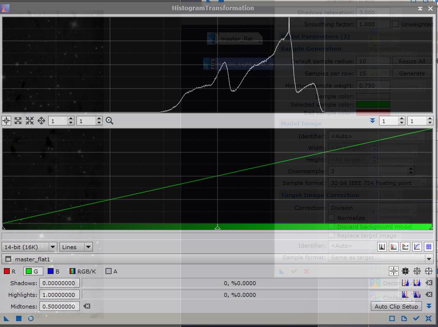 Probleme de flat et application d'un DBE Histo_10