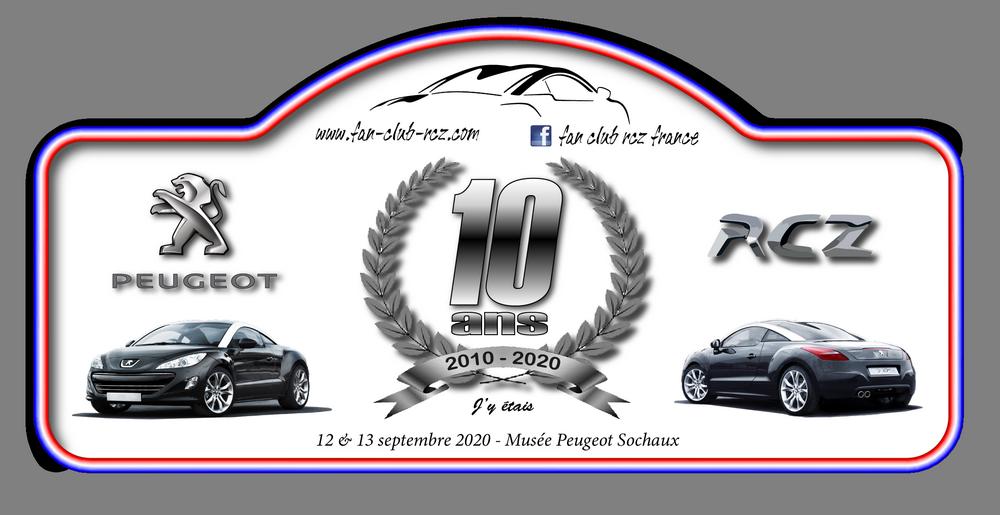 Sondage plaque 10 ans RCZ (CLOS) Plaque10