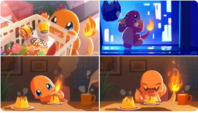 """最近在推特上流行起了""""與寶可夢的生活""""出現大量溫馨可愛的寶可夢相關二次創作 Pokemo10"""